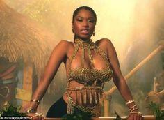 Nicki Minaj's dancer 'gets bitten by 6ft long snake' while rehearsing for MTV Video Music Awards