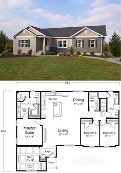 Awesome floor plan. Cute house!