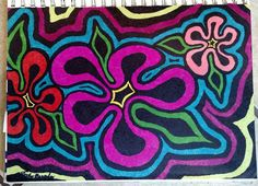 Check out this item in my Etsy shop https://www.etsy.com/listing/289232843/hippie-flowers-pointalism-sharpie-art