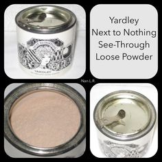 """Buff color in a refill container for loose powder. $2 original price. """"You can puff on Next to Nothing Loose Powder over any shade foundation to give your make-up a soft focus-finish. Clings tenderly, doesn't change color, shows the real beauty of your skin. So natural, so see-through, he'll think you're wearing nothing but your own great looks. Next to Nothing comes in pressed powder and two beautiful sheer foundations; regular and now a new medicated oil-free formula."""""""