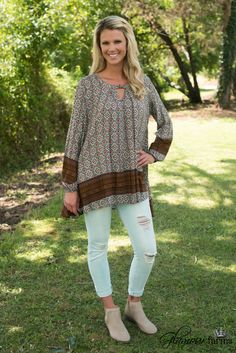 South Of The Border Tunic - Ivory/Multi