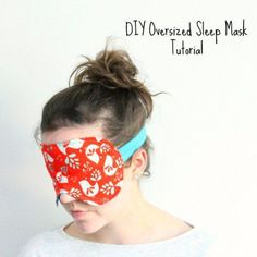 Easy Sewing Projects to Sell - How To Sew An Oversized Sleep Mask - DIY Sewing Ideas for Your Craft Business. Make Money with these Simple Gift Ideas, Free Patterns, Products from Fabric Scraps, Cute Kids Tutorials http://diyjoy.com/sewing-crafts-to-make-and-sell