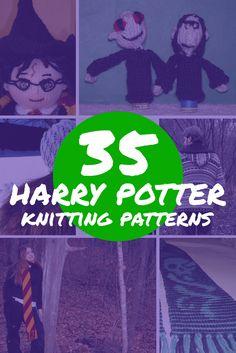35 Free Harry Potter Knitting Patterns | see more at knittingfornerds.com