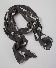 Another great find on #zulily! Dark Gray Weiner Dogs Scarf #zulilyfinds
