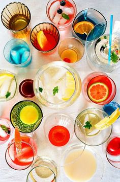 colorful happy hour