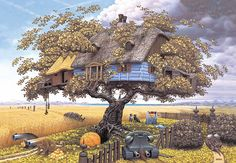 "The same American publisher ""Morpheus International"" released the album ""The Fantastic Art of Jacek Yerka"". Description from ggalleryslo.blogspot.com. I searched for this on bing.com/images"