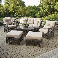 Reneés 6-Piece Deep Seating Set with Premium Sunbrella Fabric - Sam's Club $1499/set They have this as well in store to sit on- would recover accent pillows