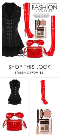 """""""ROSEGAL.."""" by amalyalana ❤ liked on Polyvore featuring Charlotte Tilbury, Spring, polyvoreeditorial and brunchgoals"""
