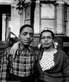 Homely: The pictures are being exhibited in Boston. According to the exhibit's curator, Karen Haas, the images are remarkable in showing black families in proud, domestic situations - often in front of their houses, such as this one in Chicago