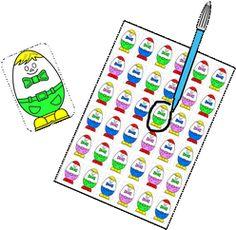 Mathoeuf à imprimer Preschool Math, Kindergarten, Montessori, File Folder Games, Busy Bags, Kids Learning, Back To School, Activities, Perception