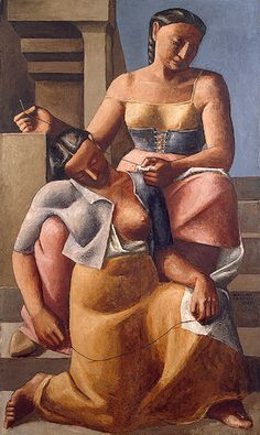 Campigli, Massimo (1895-1971) - 1925 Seamstresses (The State Hermitage Museum, St. Petersburg, Russia)    Oil on canvas; 161 x 96.5 cm.  Massimo Campigli, born Max Ihlenfeld, was an Italian painter and journalist.