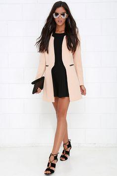 Black and Blush Jacket