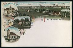 Finsterwalde Germany original old 1900s postcard Gruss aus