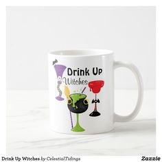 Drink Up Witches Coffee Mug Halloween Cups, Devil Halloween, Halloween Masquerade, Halloween Haunted Houses, Halloween Spider, Halloween Birthday, Cute Halloween, Halloween Gifts, Moon Silhouette
