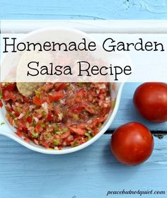 Yummy, homemade salsa recipe that only uses 3 ingredients!