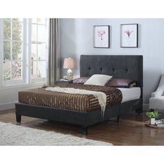 Emerald Home Harper Upholstered Platform Bed - B129-12HBFBR-03
