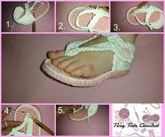 Free toddler crochet flip flop pattern