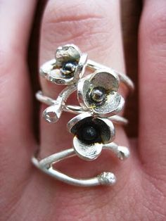 """""""Blossoms"""" ring by Avital Lang"""