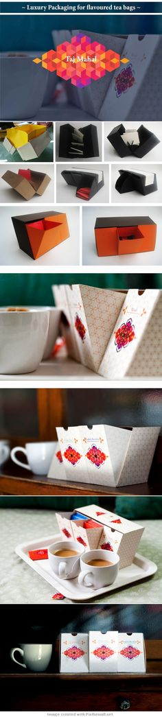 Taj Mahal Tea (Student Project) intriguing tea bag #packaging PD