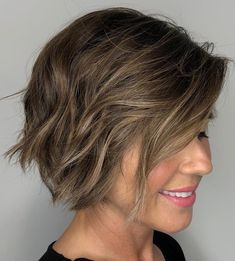 Short Bob with Scrunched Waves