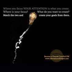 January 1 // Where you focus your attention is what you create. Where is your focus? What do you want to create? Match the two and create your goals from there. #PMP #CheetahLearning http://fb.me/3nhMJ1eO3