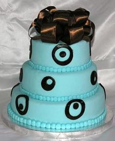 Aqua Black Cake