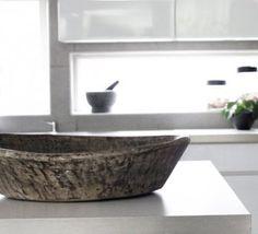 Wooden Vintage Bowl - Antika träfat