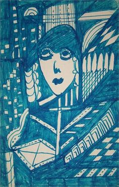 Pencil and Ink Drawings | The Spiritualist | Madge Gill (1882 - 1961) Outsider artist from the UK.