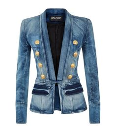 Balmain Denim Blazer from Harrods.