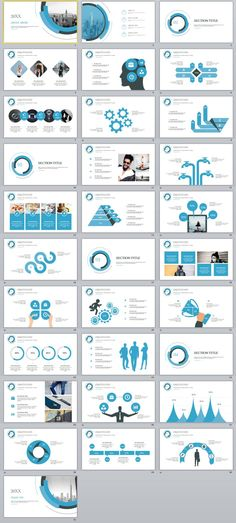 31+ blue creative annual report PowerPoint Presentations template