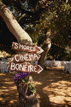 love Golf Course Wedding With Purple Wedding Ideas s& cinema and bonfire.would love to have those at my wedding! Fall Bonfire Party, Bonfire Birthday Party, Backyard Movie Party, Summer Bonfire, Bonfire Night, 50th Party, Wedding Bonfire, Bonfire Parties, Bonfire Games