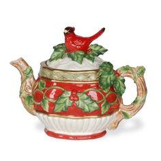 Holly Cardinal Teapot by Kaldun & Bogle