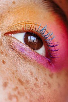 BS-MALL 2016 New Premium Synthetic Kabuki Makeup Brush Set Cosmetics Foundation Blending Blush Eyeliner Face Powder Brush Makeup Brush Kit (SkyBlue Silver) - Cute Makeup Guide Rainbow Eye Makeup, Colorful Eye Makeup, Blue Eye Makeup, Fall Makeup, Bright Makeup, Blue Eyeliner, Gel Eyeliner, Eyeliner Tutorial, Makeup Guide