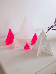 Hama beads Christmas tree neon christmastree christmasdiy diy decor decoration pink white