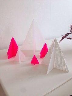 Hama beads Christmas tree neon christmastree christmasdiy diy decor decoration pink white