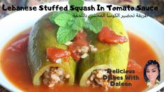 Lebanese Stuff Squash in Tomato Sauce. Watch Full Video of How to Prepare From Start to Finish. Great Meal for a Group of 4 People. Watch Now and Grab the Recipe. Spiced Beef, Middle Eastern Dishes, Tomato Sauce, Tasty Dishes, Squash, Cooking Tips, Good Food, Fans, Community