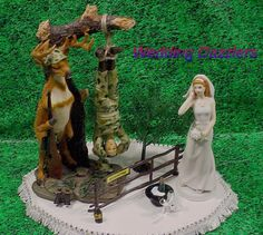 wedding cake topper hunter groom the hunt is cake on the phone camo groom 26338