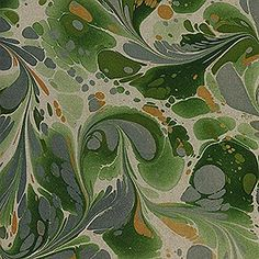 Printed Marbled Papers - No11