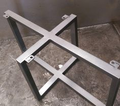 Metal Table Base By SteelImpression On Etsy Idea For Batonga Door Coffee  Table Legs.