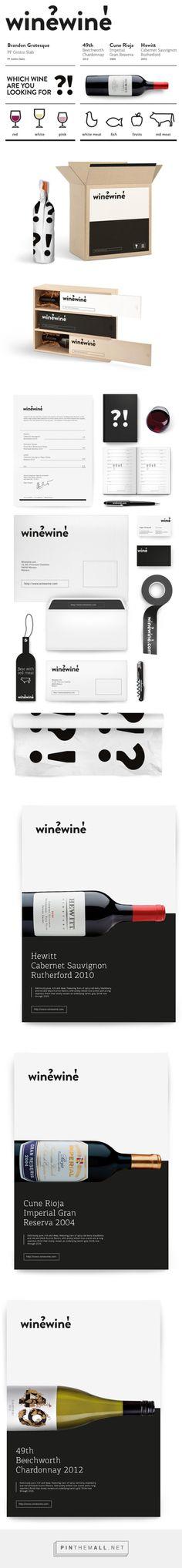 winewine Art direction: Marcin Wolny  Design: Julek Wierzchowski, Tomek Jurecki curated by Packaging Diva PD. What a fun packaging branding concept.