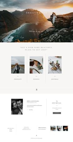 You NEED TO SEE this website built with Porto by Christin Eide Photography - it's mesmerizing! 😍Christin Eide Photography website design, based on Porto theme, Flothemes.  Epic, bold, inspirational, elegant wedding photography website.