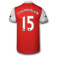 Arsenal FC Jersey 2016/17 Season Home Soccer Shirt #15 CHAMBERLAIN