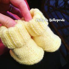 Des petits chaussons 0/3m - Tricot, crochet, doudous de Memie Cathy