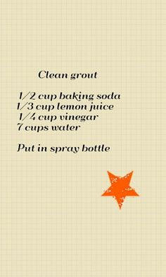Recipe for grout cleaner
