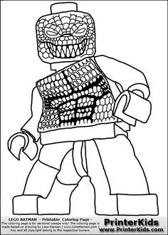 Coloring page with a Lego variant of the DC Comics character