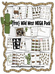 Free Wild West Printable Pack