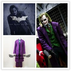 Batman Cosplay Joker Cosplay Costumes Comic-Con Suit - Any Size (Free Shipping).