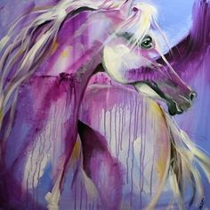 Purple Rain Horse - oil by © Laurie Pace - www.dailypainters.com/artists/artist_gallery/673/Laurie-Justus-Pace/tag/artist_id:673/custom_category_id:173?showall=true