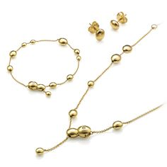 CHIMENTO yellow gold bracelet, earrings and necklace