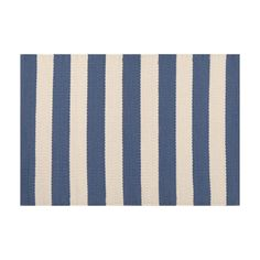 Pine Cone Hill Trimaran Stripe Denim Easy Care Placemats